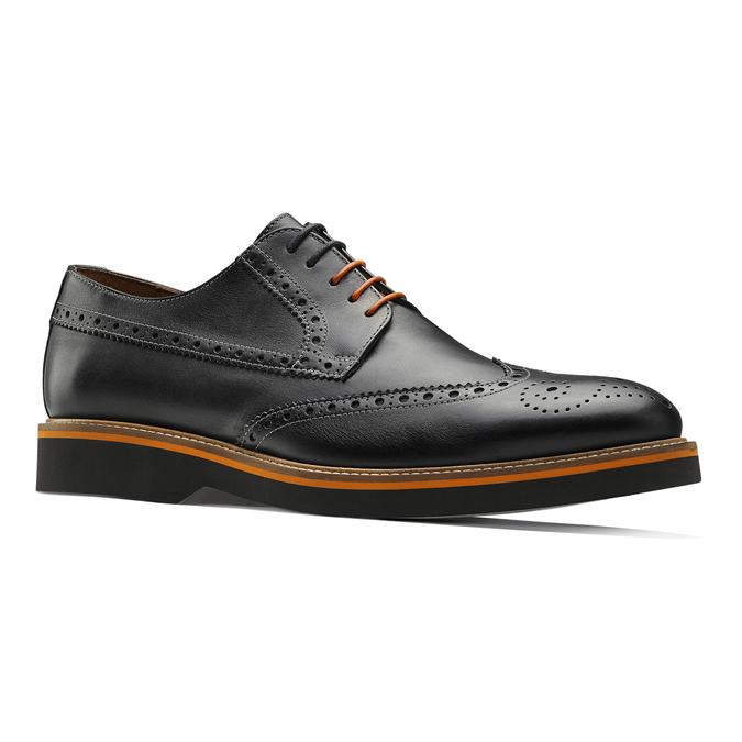 Chaussure lacée en cuir à semelle épaisse bata-the-shoemaker, Noir, 824-6190 - 13