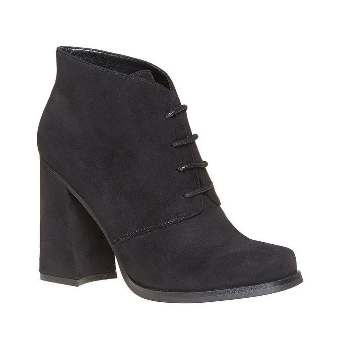 Chaussure femme à talon large bata, Noir, 799-6430 - 13