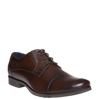 Chaussure décontractée en cuir bata, Brun, 824-4617 - 13
