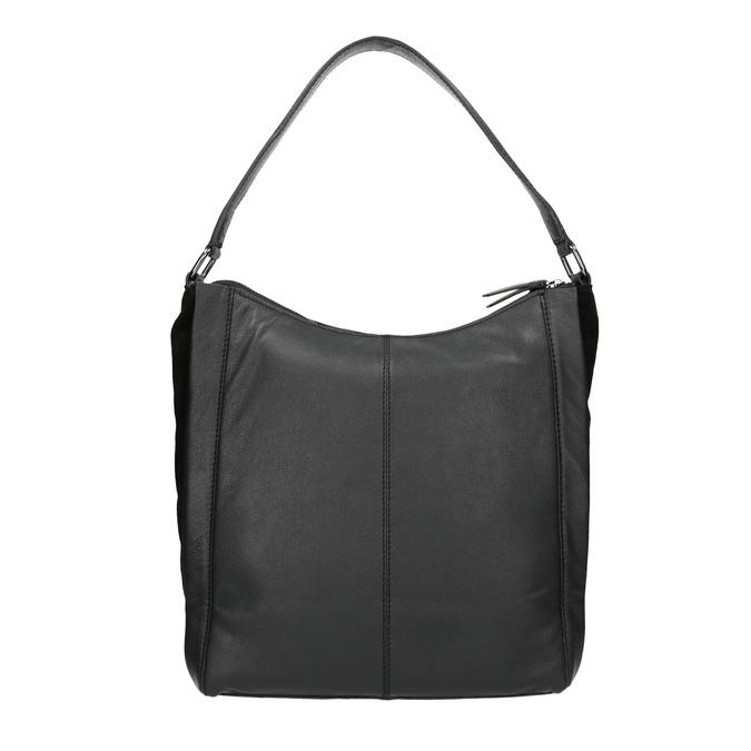 Sac Hobo en cuir noir bata, Noir, 964-6254 - 19