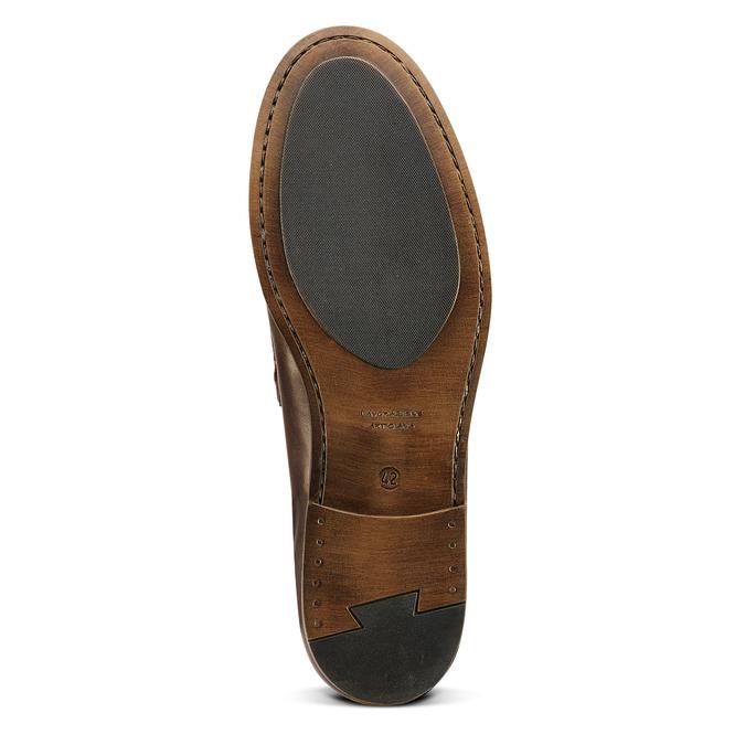 Loafer en cuir homme bata, Brun, 814-4128 - 17