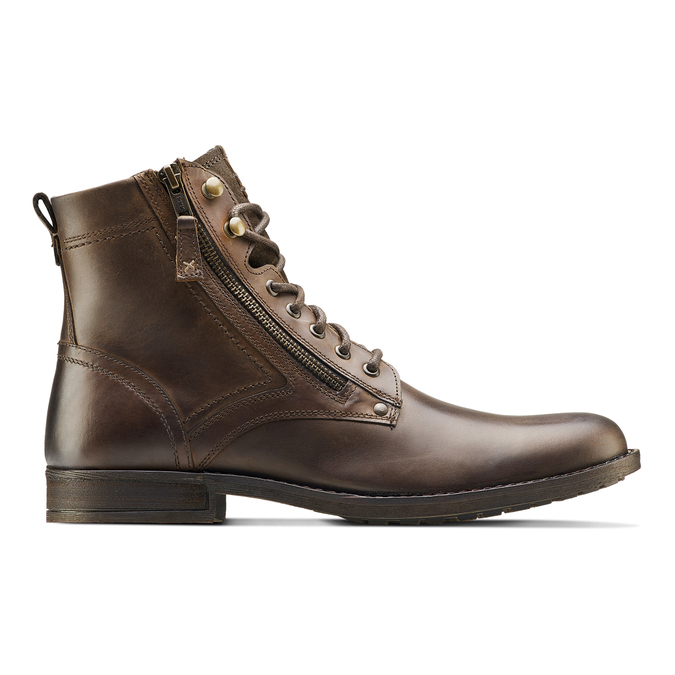 Bottine en cuir bata, Brun, 894-4449 - 26