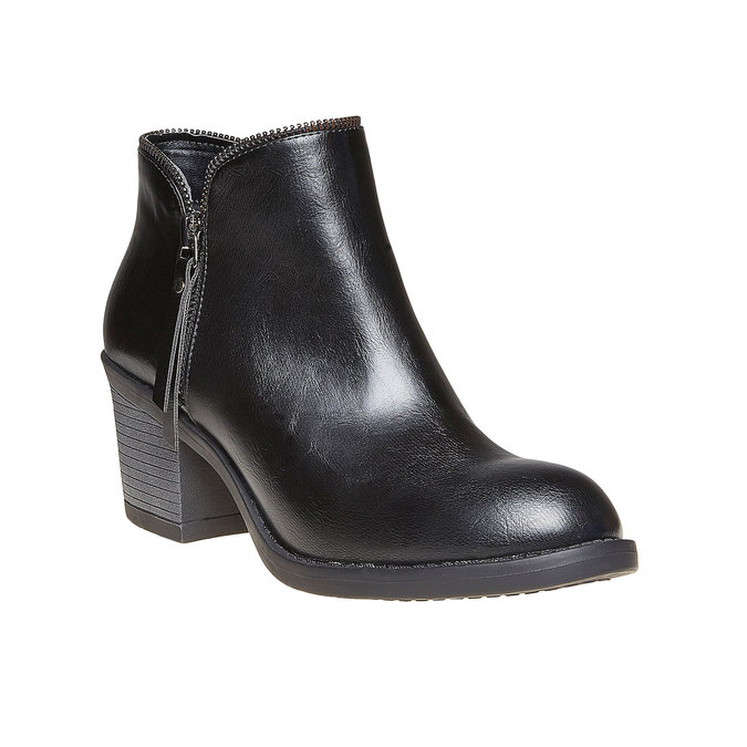 Bottines à talon large bata, Noir, 691-6223 - 13