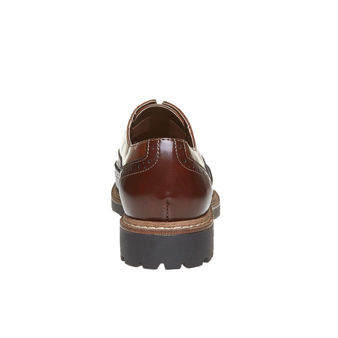 Chaussure basse vernie pour femme bata, Brun, 511-3194 - 17
