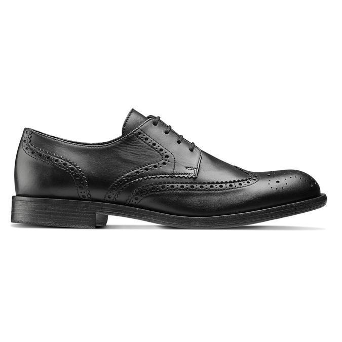 Chaussure Derby en cuir bata, Noir, 824-6429 - 26