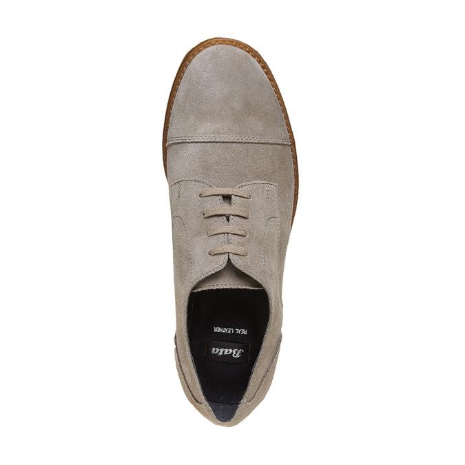 Chaussure décontractée en cuir bata, Gris, 523-2262 - 19