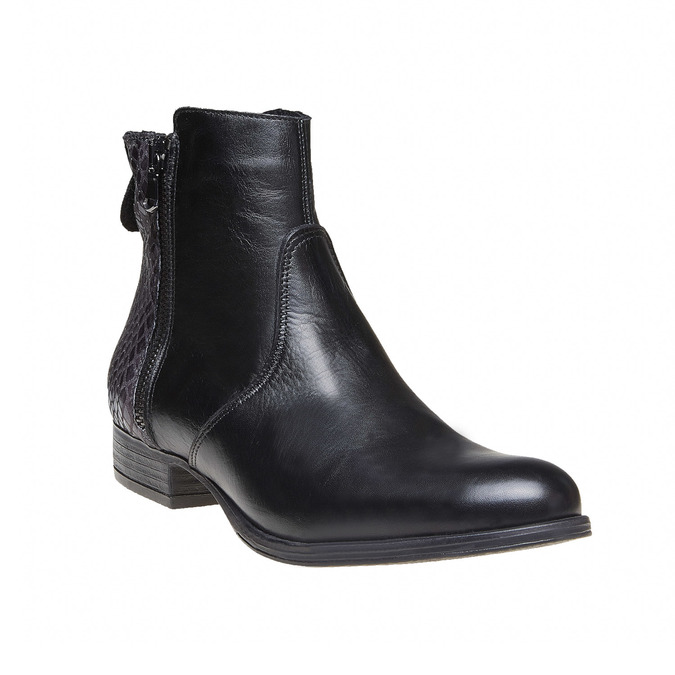 Bottines en cuir bata, Noir, 594-6208 - 13