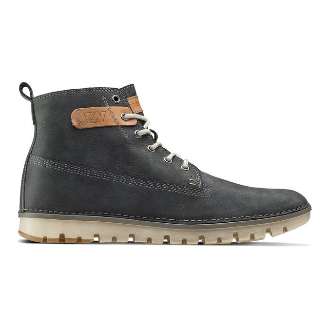 Chaussures lacées en cuir weinbrenner, Violet, 896-9340 - 26