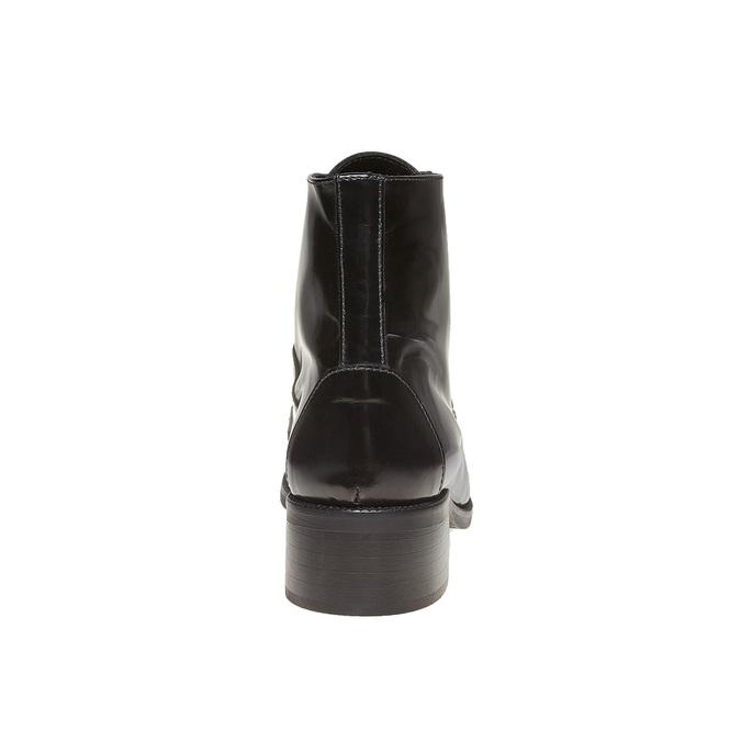 Bottine en cuir à lacets bata, Noir, 594-6100 - 17