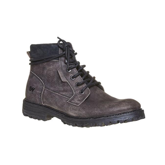 Chaussures d'hiver en cuir pour homme weinbrenner, Gris, 894-2256 - 13