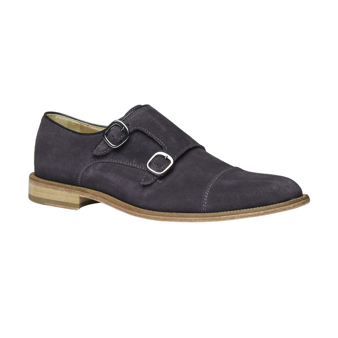 Monk Shoe en cuir shoemaker, Violet, 813-9104 - 13