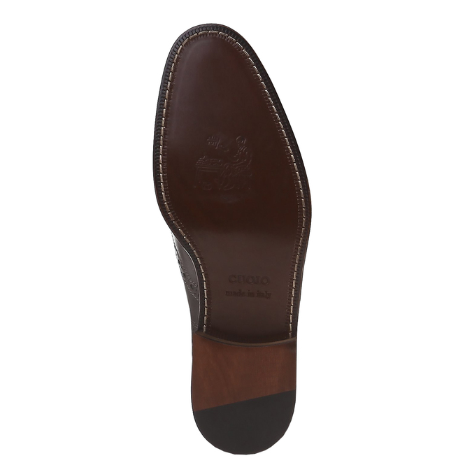Oxford en cuir shoemaker, Gris, 824-2594 - 18