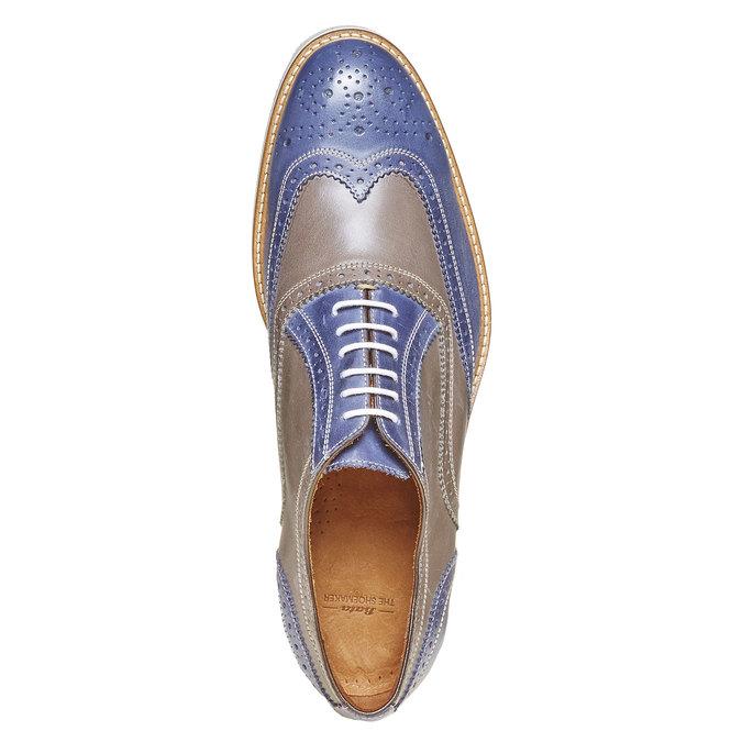 Chaussure lacée en cuir à semelle épaisse shoemaker, Violet, 824-9776 - 19