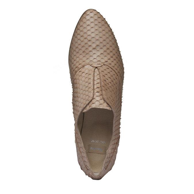 Chaussure lacée en cuir pour femme bata, Brun, 514-8212 - 19