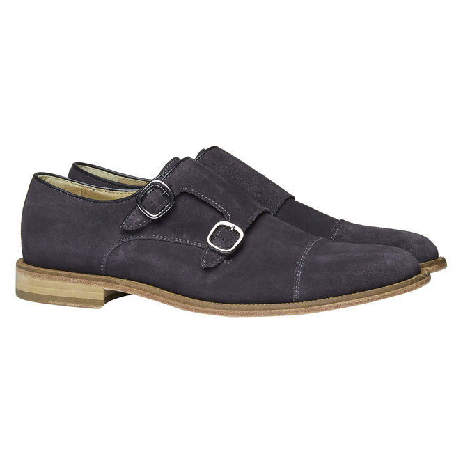 Monk Shoe en cuir shoemaker, Violet, 813-9104 - 26