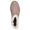 Bottines avec fausse fourrure bata, Gris, 599-2997 - 19