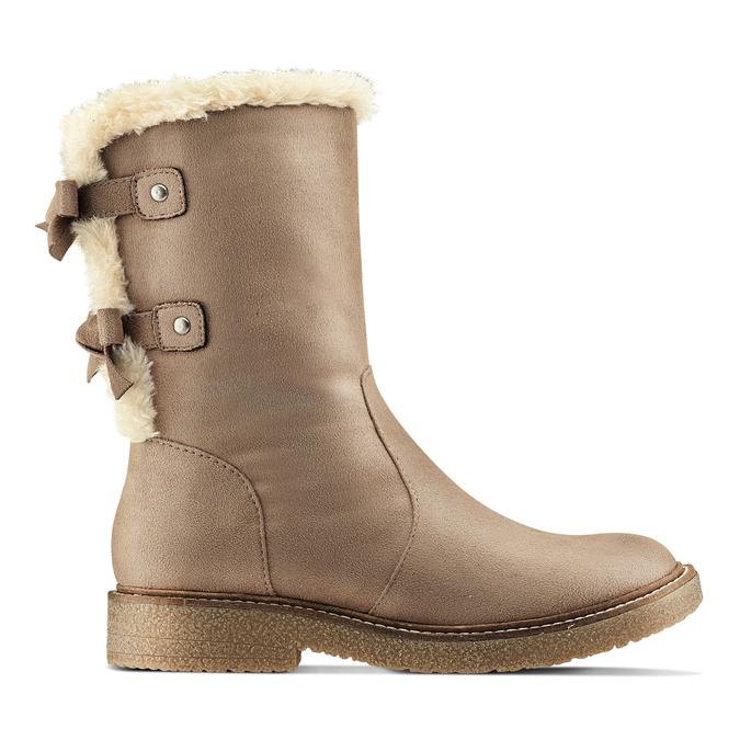 Chaussure d'hiver pour femme à nœuds bata, Gris, 599-2994 - 26