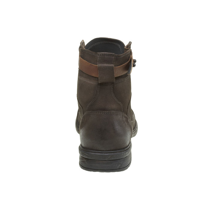 Bottine en cuir bata, Gris, 894-2165 - 17