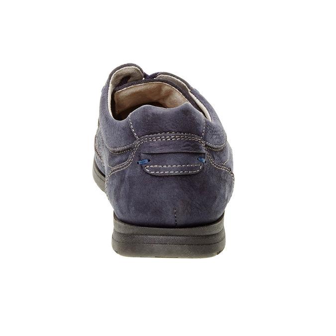 Chaussure lacée décontractée en cuir, Violet, 856-9183 - 17