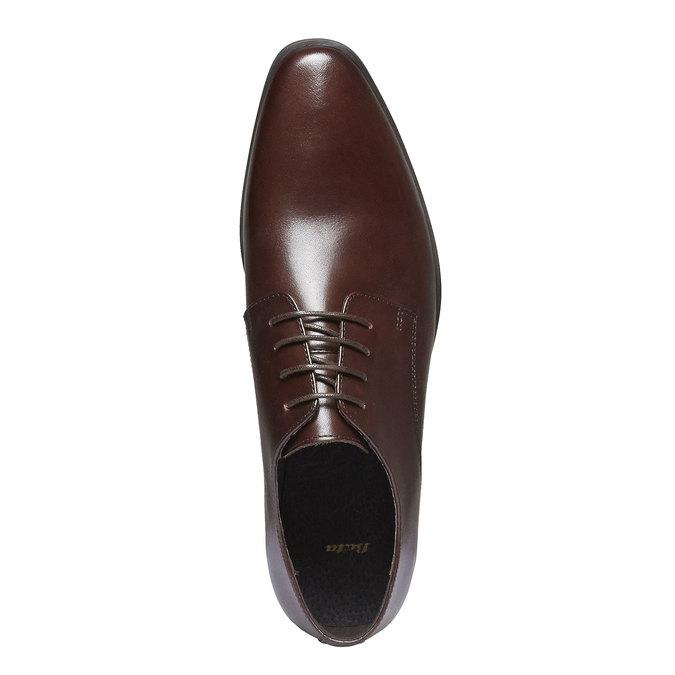 Chaussure lacée Derby en cuir bata, Brun, 824-4816 - 19