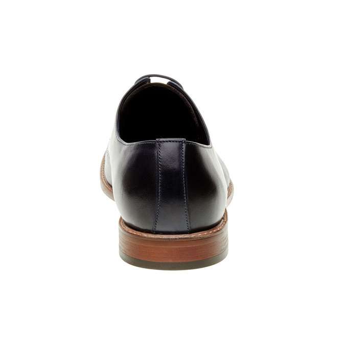 Chaussure lacée Derby en cuir pour homme bata, Bleu, 824-9551 - 17