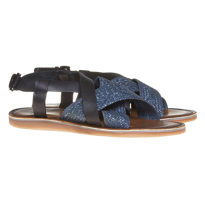 Sandale en cuir homme shoemaker, Violet, 864-9235 - 26