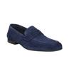 Mocassin en cuir homme flexible, Bleu, 853-9186 - 13