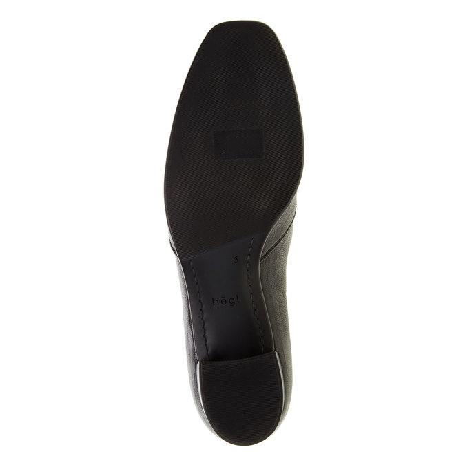 Escarpin en cuir avec empeigne hogl, Noir, 614-6109 - 26