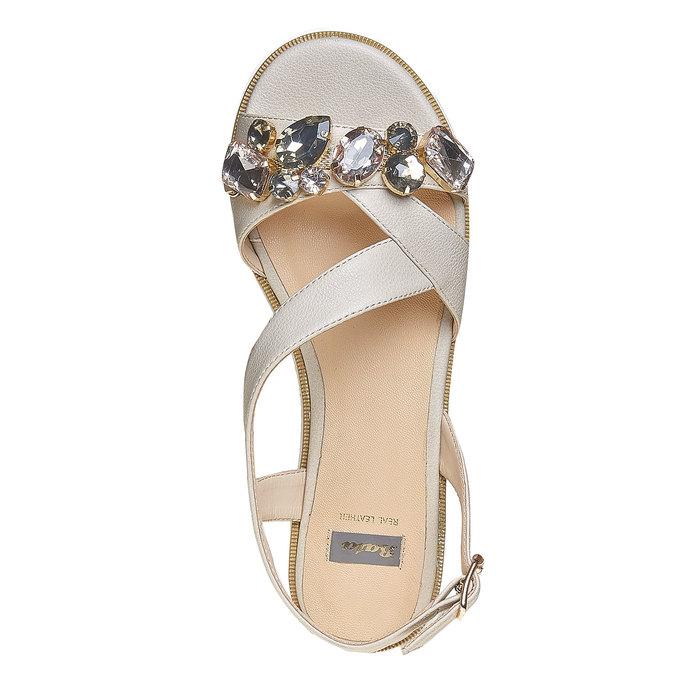 Sandale à flateforme avec petites pierres bata, Gris, 561-2224 - 19