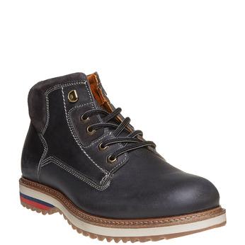 Chaussure montante en cuir weinbrenner, Noir, 894-6403 - 13