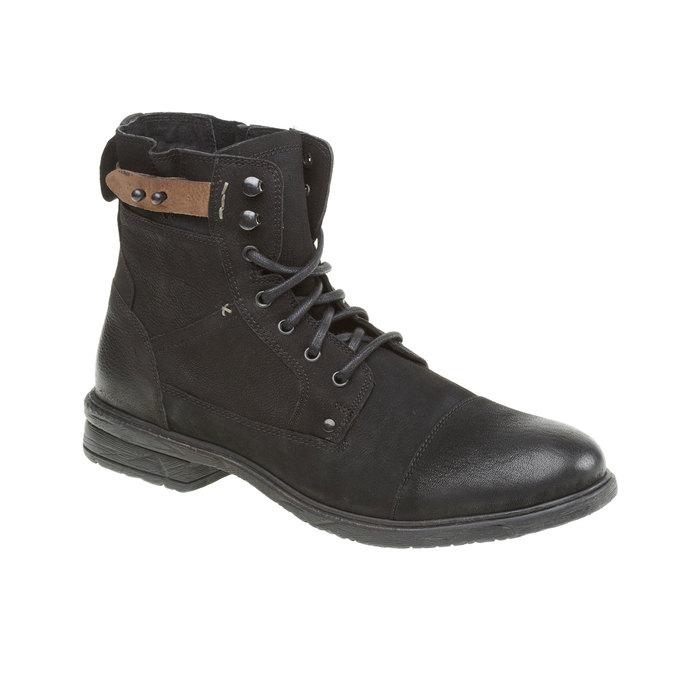 Bottine en cuir bata, Noir, 894-6165 - 13