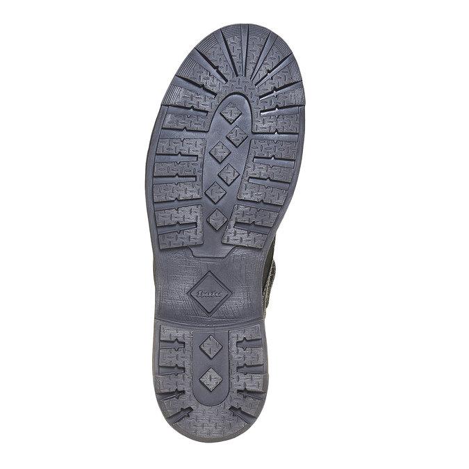 Chaussure montante en cuir pour homme bata, Noir, 896-6687 - 26
