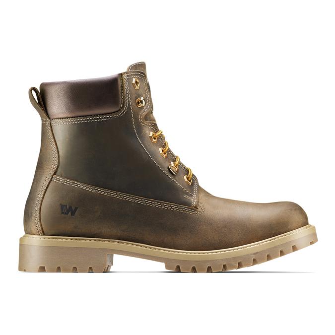 Chaussures en cuir à semelle tracteur weinbrenner, Brun, 894-4820 - 26