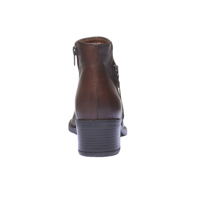 Bottines en cuir bata, Brun, 694-4166 - 17