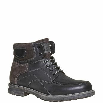 Chaussure montante en cuir pour homme bata, Noir, 896-6687 - 13