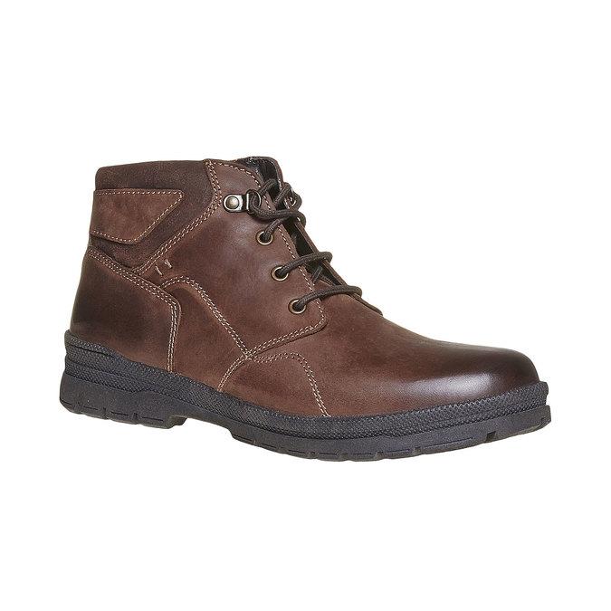 Chaussure montante en cuir pour homme bata, Brun, 896-4638 - 13