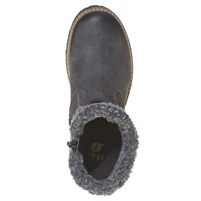 Botte en cuir pour enfant mini-b, Gris, 394-2315 - 19