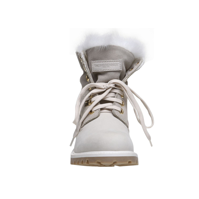Chaussures au style de tracteur en cuir weinbrenner, Blanc, 596-1883 - 16