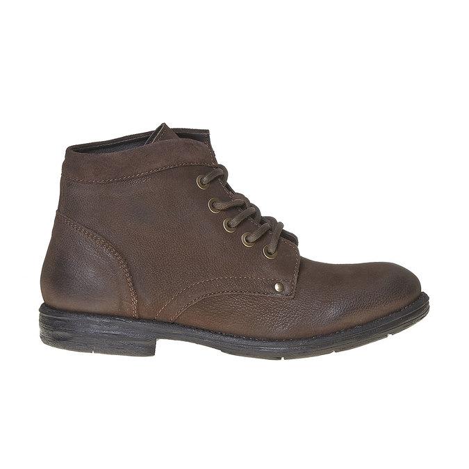 Chaussure montante en cuir pour homme bata, Brun, 896-4704 - 15