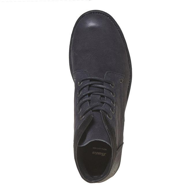 Chaussure montante en cuir pour homme bata, Noir, 896-6704 - 19