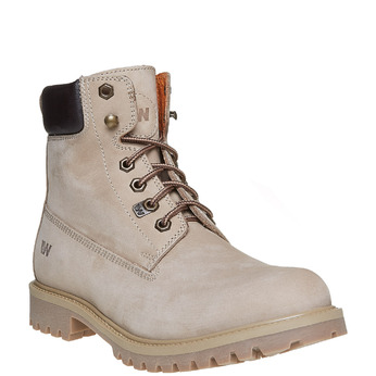Chaussures en cuir à semelle tracteur weinbrenner, Gris, 896-2820 - 13