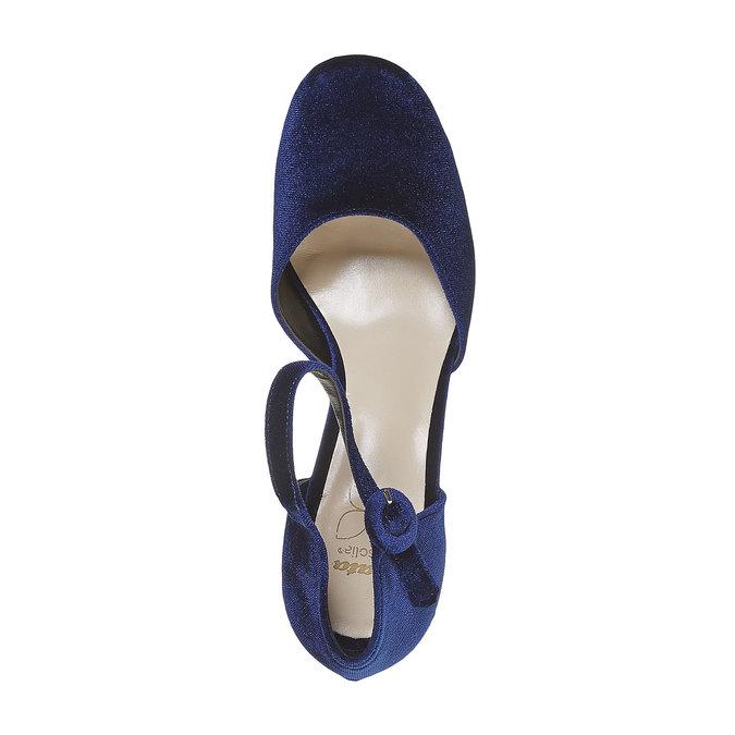 Escarpin femme ouvert sur les côtés bata, Bleu, 729-9177 - 19