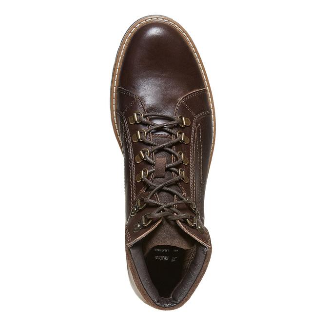 Chaussure montante en cuir bata, Brun, 894-4561 - 19