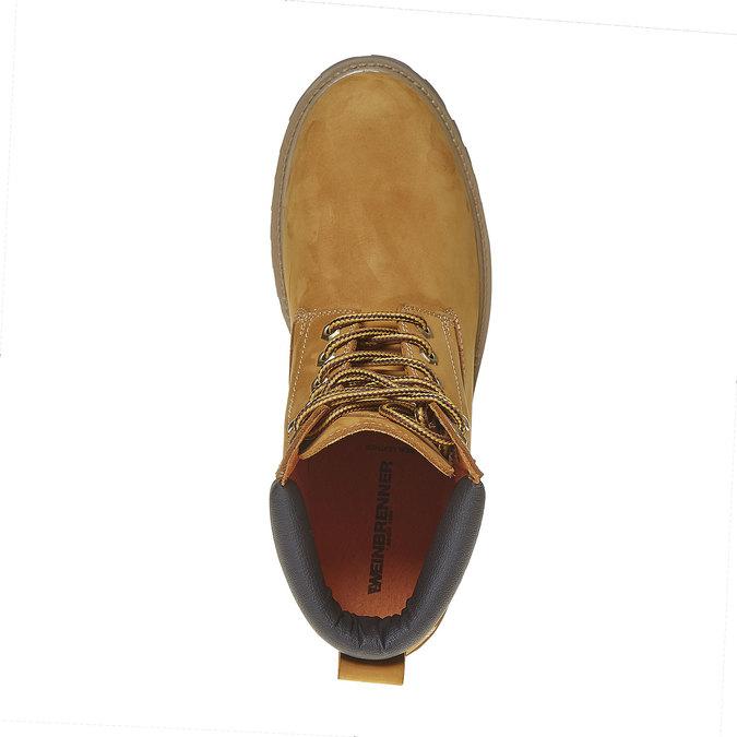Chaussure d'hiver en cuir pour homme weinbrenner, Jaune, 896-8705 - 19