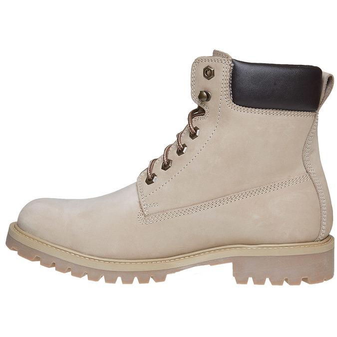 Chaussures en cuir à semelle tracteur weinbrenner, Gris, 896-2820 - 19