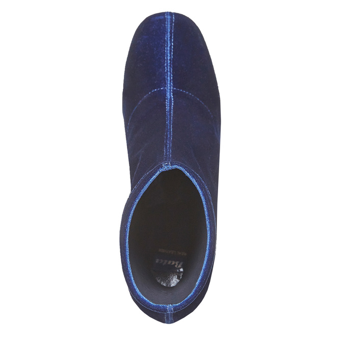 Bottine en velours bata, Bleu, 799-9643 - 19