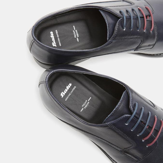 Chaussure lacée Derby en cuir bata, Violet, 824-9874 - 17