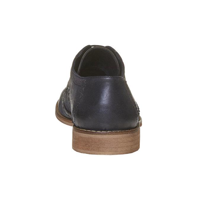 Chaussure en cuir pour homme dans le style Brogue bata, Noir, 824-6286 - 17