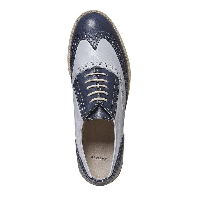 Chaussure Oxford en cuir pour femme bata, Violet, 524-9128 - 19