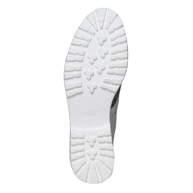 Chaussure Oxford en cuir pour femme bata, Violet, 524-9128 - 26